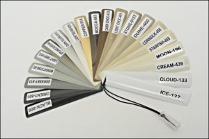 Colour sample for Aluminium Venetian Blinds