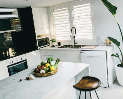 PVC Shutters can be used in Kitchen areas